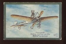 Aeroplanes Bleriot rabbit flying aircraft Tuck Oilette #9935 Vintage PPC