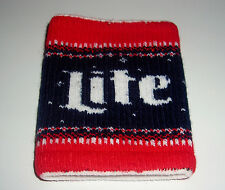 "MILLER LITE BEER 4"" ELASTIC WRIST SWEAT BAND"