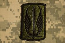 Military Patch US Army 17th Aviation Brigade Subdued BDU Sew On Authentic