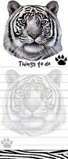 WHITE TIGER Die Cut List Pad/Note Pad with Magnetic Back