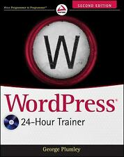 WordPress 24-Hour Trainer (2nd Ed.) Paperback with CD - Plumley