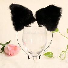 Fashion Women Girl Cat Fox Ears Long Fur Headband Anime Cosplay Party Costume