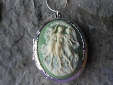 THREE DANCING WOMEN, ANGELS, GRACES, MUSES CAMEO LOCKET!!! QUALITY!!! DANCER