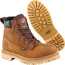 "Men Work Boots Red Wing Irish Setter Waterproof 6"" Safety Toe Boot 83614 Brown"