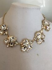 Ann Taylor Statement Crystal Flowers Necklace $45 #150 (6)