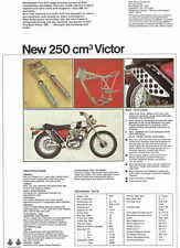 VINTAGE BSA VICTOR 250 TRAIL MOTORCYCLE AD POSTER 50x36 STYLE B BIG