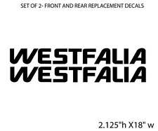 "Volkswagen WESTFALIA BLACK BUS VAN stickers Decals 18"" 2 PACK for Vanagon"