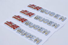 4x 3D Badge Emblem Mugen 無限 Sticker Logo Decal Honda Acura Type R JDM Chrome