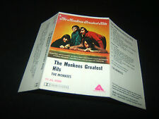 THE MONKEES GREATEST HITS AUSTRALIAN CASSETTE TAPE Unused Inlay Card Only 1976