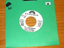 "PROMO 1970 POP 45 RPM - RITA PAVONE - POLYDOR 15011 - "" 'TIL TOMORROW"""