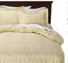 NEW Nate Berkus 3 Piece Brotch Duvet cover Set Lime Drop Cotton King Size NEW