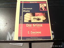 Hartmut Hein: Chaconne for piano, electric bass, drums, score & parts (Haas)