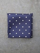 Silk Pocket Square (Navy Blue Polkadot) by Tails and the Unexpected