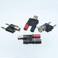 Kit Adapter 4pcs/set BNC to dual banana male female RF connector Test converter
