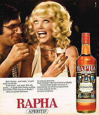 PUBLICITE ADVERTISING 104  1975  RAPHA   apéritif