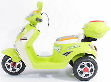 Kids Motorcycle Electric Scooter MOTORBIKE 6V Battery Ride on Toy Bike in GREEN