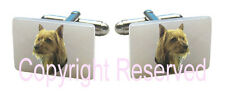 Australian Terrier Puppy Dog Natural Mother Of Pearl Cufflinks + Gift Box SCS77