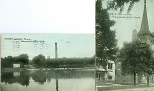 Kendallville, IN The M.E. Church and Water Works Park 1911