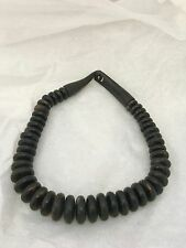 Vintage Danish Monies Gerda Lynggaard black horn bead necklace