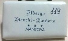 SAPONETTA ALBERGO BIANCHI -STAZIONE - 3 STELLE MANTOVA - g.14 RETTANGOLARE N.119