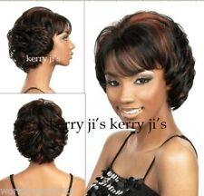 """Cos women""""s  black brown mix short straight cosplay full wig"""