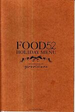 Food52 Holiday Menu Provisions Booklet Recipes Butternut Squash Game Hens