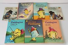 Michael Bond 5 Paddington Armada Paperback Books with 2 Collins Picture Books