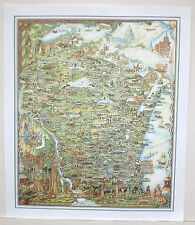 Historical Map Of The State Of WISCONSIN Discover The States Rich History NEW