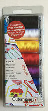 Gutermann Sulky Rayon 40 Machine Embroidery Classic Thread Set - 7 Reels
