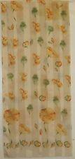 TERRIART Yellow, Orange, Green Flowers, Pods Long Scarf-Vintage H. Benard