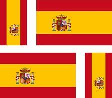 4 x Aufkleber Auto Sticker tuning motorrad spanische Fahne Flagge Spanien