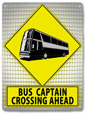 BUS professional driver CAPTAIN METAL street SIGN great gift wall decor  543