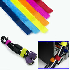 14x Strap Wrap Wire Line Organizer Cable Tie Rope Holder for Laptop PC TV