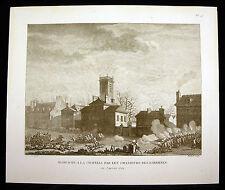 Massacre à la chapelle par les chasseurs des barrières Révolution française XIXè