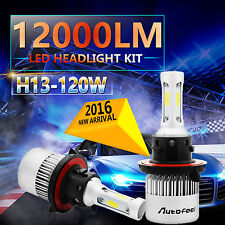120W 12000LM PHILIPS LED HEADLIGHT BULBS KIT 9008 H13 6000K WHITE HIGH LOW BEAM