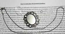 Gun metal jewellery making kit glass oval cameo make your own necklace gothic