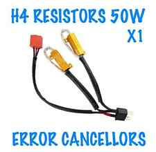 1x H4 HEADLIGHT ERROR FREE WARNING RESISTORS CANCELLERS 50W SEAT VW HONDA FIAT