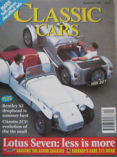 Classic Cars 09/1995 featuring Aston Martin Zagato, Ferrari, Lotus, Bentley