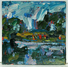 Original Ukrainian Expressionism Contemporary Oil Painting Landscape Fantasy