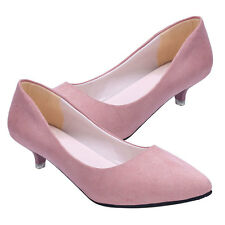 Lady Women Pointed Toe Pumps Lolita Mary Jane Shoes High Heels Scrub Single Shoe