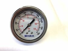 63mm Hydraulic Pressure Gauge BACK ENTRY 0-1800 PSI 120 Bar Stainless GC63120/04