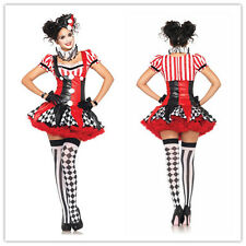 LADY CIRCUS CLOWN ADULT COSTUME GIRLS FANCY COLOURFUL HALLOWEEN DRESS TUTU SKIRT