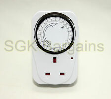 3X  24HR 24 Hour Timer Switch Programmable Mains Plug in Time Clock Socket 31132
