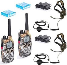 2 TRANSCEIVER Midland G7 pro Walkie Talkie camo G7PRO CAMOUFLAGE + BOW- MAN