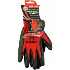 Dekton Ultra Grip Extra Protection Safety Working Gloves Black/Red Nitrile 9/L