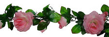 PINK & CREAM Rose Garland ~ Silk Wedding Flowers ~ Arch Gazebo Decoration Vines