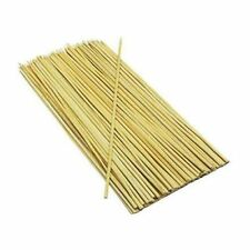 100 Bamboo Skewers For BBQ Kebab Fruit Chocolate Fountain Wooden Sticks 30CM