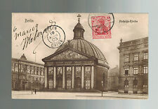 1909 Berlin Germany to French Colonial Soldier Pekin China Postcard Cover