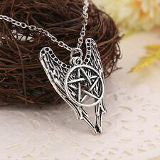 Collar de alas de ángel Castiel y estrella pentagrama pentalfa de Supernatural