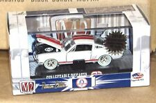 M2 Machines 1965 Shelby Mustang GT350R Chase White Tires 1:64 Red Racing Stripes